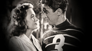 Jimmy Stewart and Donna Reed in It's a Wonderful Life
